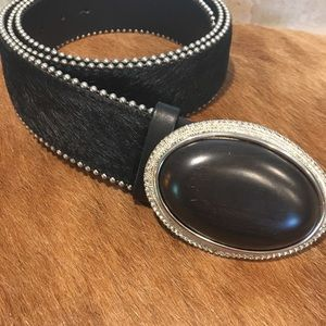 Luisa Cerano Hair Buckle Belt Made In Italy